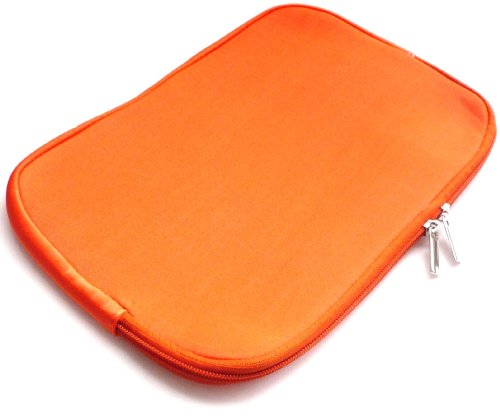Emartbuy® Orange Water Resistant Neopren Soft Zip Case Cover geeignet für Dell Latitude 3550 15.6 Zoll Laptop (15-16 Zoll Laptop/Notebook / Ultrabook)