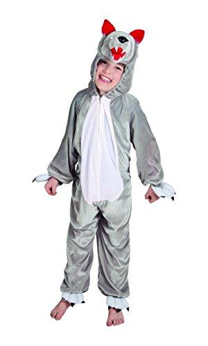 Boland 88219 Kinderkostüm Wolf aus Plüsch, - Zähne Kostüm Wolf