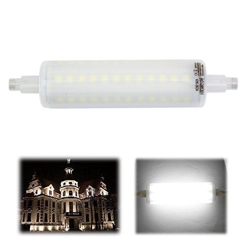 Preisvergleich Produktbild Hengda® 5W 10W 15W 78mm 118mm 189mm LED R7s Leuchtmittel Stab 72SMD Fluter Brenner Lampe Rund Warmweiß Weiß with Milky Cover Abstrahlwinkel 360° AC85-265V (Weiß,  118mm)