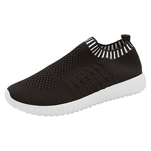YWLINK Mode Mesh Damen Sneakers Outdoor Mesh Freizeit Sportschuhe Klassisch Atmungsaktive Laufschuhe (B Schwarz,39 EU)