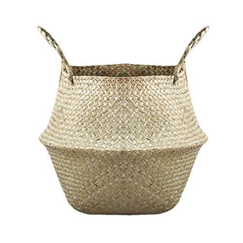 TiooDre - Cesta de Almacenamiento Grande Plegable de algodón y Lino para Colgar en la Pared o la Puerta, Bolsa organizadora para Juguetes 45 x 38 cm (XXXL)