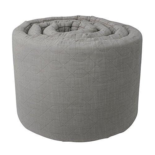 Sebra Kuscheliges Bettnestchen in Grau aus 100% Baumwolle mit weichem Schaumstoffkern, Babynestchen mit im Bezug integriertem Reisverschluss, aus nachhaltigen und pflegeleichten Materialien