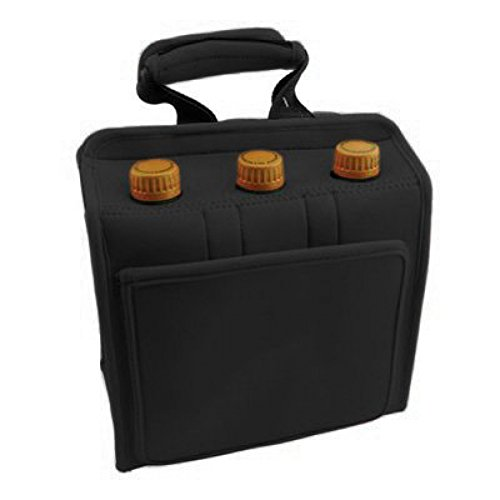 quicnic-neoprene-insulated-six-pack-can-or-bottle-cooler-tote-black-by-simply-green-solutions