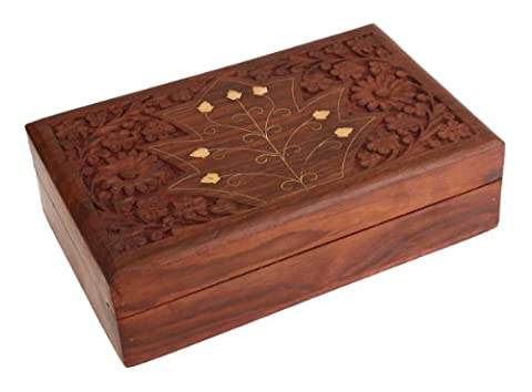 Diwali Gifts Captivating Hand Carved Wooden Decorative Trinket Jewellery Box