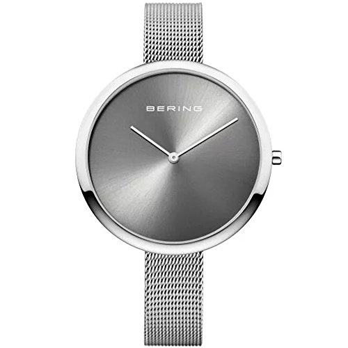 Bering Damen Analog Quarz Uhr mit Edelstahl Armband 12240-009
