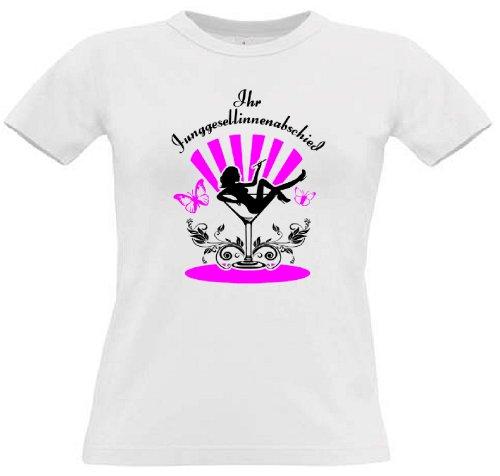 T-Shirt für den Junggesellinnenabschied mit dem Motiv Cocktailglas - Mitläuferinnen White