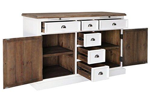 The Wood Times Sideboard Vintage Wohnzimmerschrank Massiv Vermont Kiefernholz FSC Recycled, BxHxT 155x90x45 cm - 4