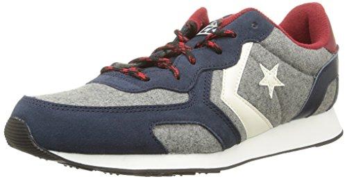Converse, Auckland Racer Ox Felt/Suede Sneaker,Unisex Adulto, Multicolore (Mel Grey/Twilight), 40.5