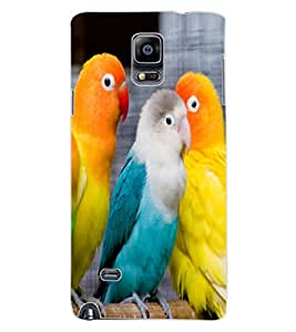 ColourCraft Love Birds Design Back Case Cover for SAMSUNG GALAXY NOTE 4