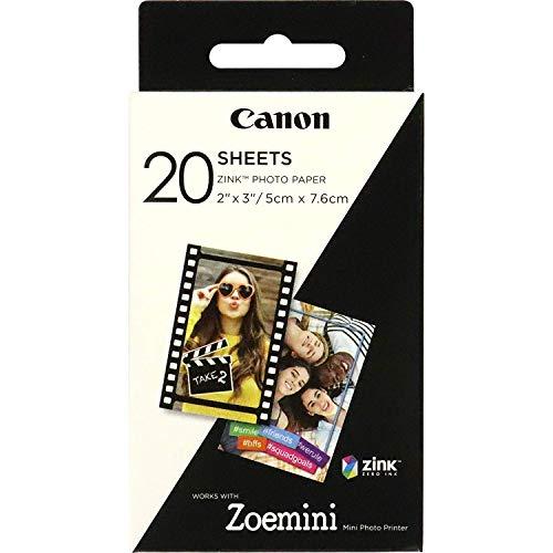 Canon ZP-2030 Papier photo Technologie Z-Ink - Pack de 20 feuilles compatibles ZOEMINI