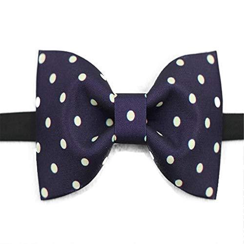 ZSRHH-Neckchiefs Halstücher Herren Krawatte Classic Silk Blue Dot Print Bow Tie verstellbar Blue Silk Bow Tie