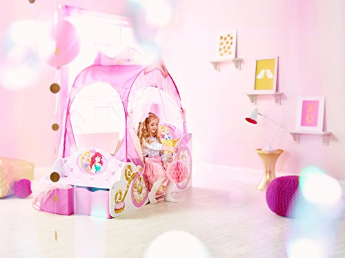 Kleinkinderbett für Mädchen im Kutschendesign von Disney Prinzessin, mit Baldachin - 7