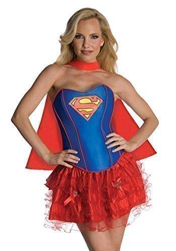 Damen Verkleidung Batgirl Supergirl Wonder Woman Robin Superheld Korsett Tutu Halloween Hen Do Modisches Kostüm Größen EU 34-46 - EU 40-42, Supergirl