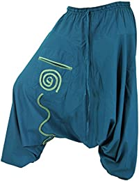 Guru-Shop Goa Pluderhose, Aladinhose - Braun, Herren, Baumwolle, Size:50, Männerhosen Alternative Bekleidung