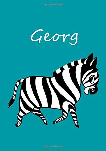 Malbuch / Tagebuch / Notizbuch - Georg: DIN A4 - blanko - Zebra