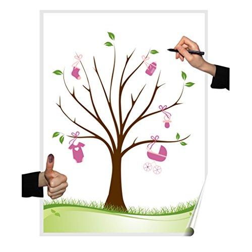 Wedding tree Poster Motiv: Mädchen, Partyspiel Fingerabdruckbaum, Taufe, Pullerparty, Geburtstag, Gästebuch