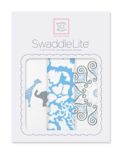 SwaddleDesigns SwaddleLite, Lush (Blue Set of 3) by SwaddleDesigns