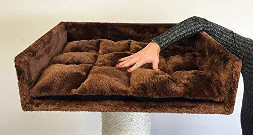RHRQuality - Ricambi per ripiani di alberi tiragraffi, colore marrone, molto grandi per alberi tiragraffi per gatti di grossa taglia, misure 60 x 43 x 16 cm, resistenti, ricambi per cuccetta