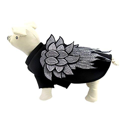 Pegasus Kostüm Flügel (Haustierkleidung Haustier Kleidung Persönlichkeit Mode Welpenkleidung Hund Kleider Kleid Katze Sweater Pullover Warm Mantel Weste Jacke Halloween Gezeiten Boutique Kleidung Neue Flügel (XL,)