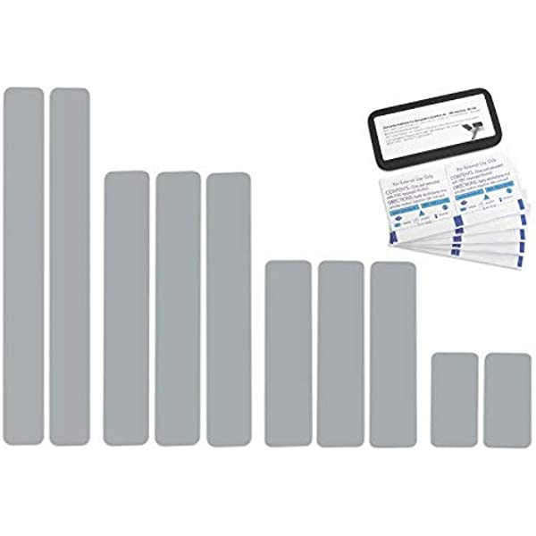 Selbstklebende Planenreparatur Tapes 10 Teilig Easy Patch Comfort 50mm Für Zelte Planen Uvm Silber Ral 9006 Auto