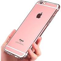 "iPhone 6S Hülle , Ubegood Kratzfeste Plating TPU Case für iPhone 6 Case (4,7"") Schutzhülle Silikon Crystal Case Durchsichtig (Transparent)"