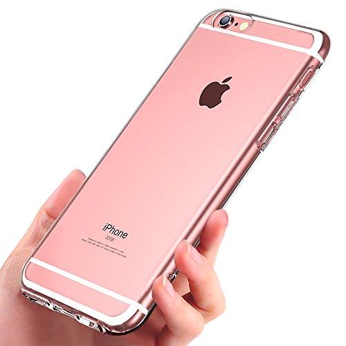 Coque iPhone 6s , Ubegood Crystal iPhone 6s Souple Coque Anti-rayures Absorption de Choc TPU Bumper Silicone Housse de Protection Pour iPhone 6 - Transparent