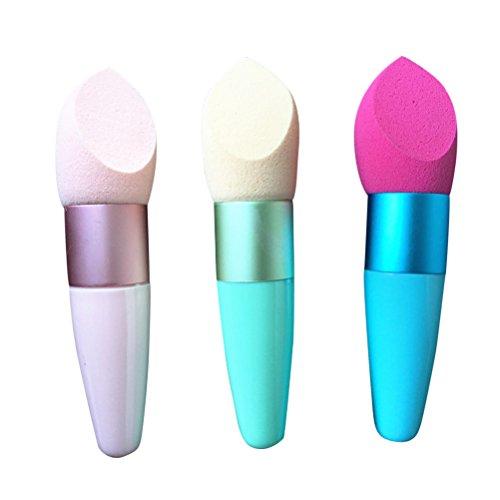 Frcolor 1pièce Houppette avec poignée Maquillage Puff Correcteur éponge de fusion pour femmes (couleur aléatoire)