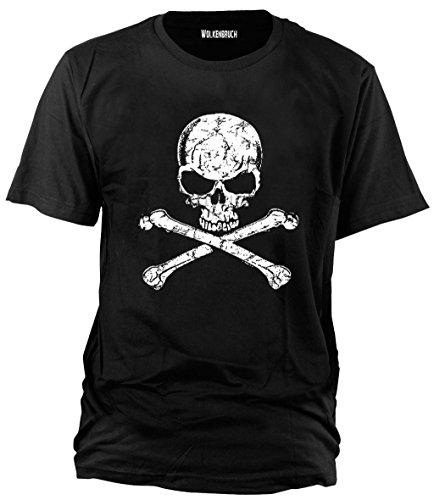 Sputnik-Shirts -Camiseta (de la S a la 5XL), diseño de calavera