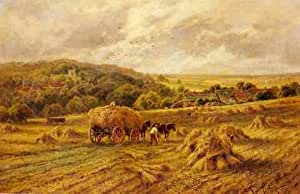 Parker Henry H Harvest Time Lambourne Berks A4 10x8 Photo Print Poster