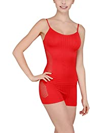 New Dream Modal Camisole + Boy shorts Set , Color- Red