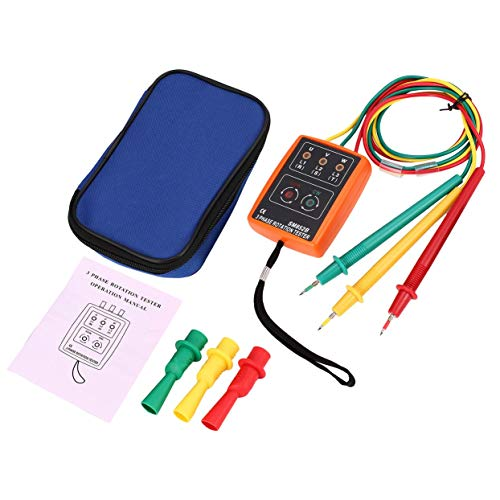 Tree-on-Life SM852B 3 Phase Rotation Tester Digitale Phasenanzeige Detektor LED Summer Phasenfolge Meter Spannung Tester 60 V ~ 600 V AC