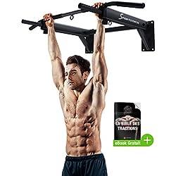 Sportstech Barre de Traction Fixation Murale KS300 Musculation Fitness 3 Anneaux pour TRX, Punching-Ball, élingues poignées antidérapantes, Exercices Pull-ups matériel de Fixation Inclus Max. 300 KG