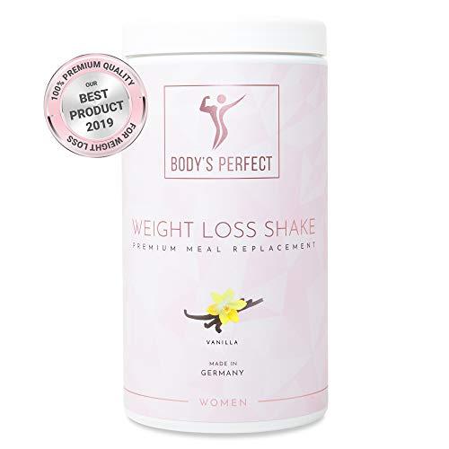 Effektiver Abnehm Shake für Frauen   Premium Mahlzeitenersatz mit hochwertigen Proteinen   Mit allen wichtigen Vitaminen und Mineralstoffen von BODY\'S PERFECT   500 g (Vanille)