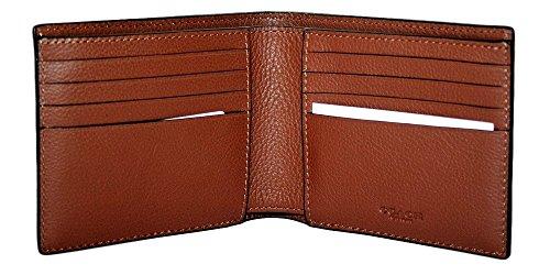 Coach Mens 3 in 1 Sport Calf Leather Billfold ID Wallet Key Fob Gift Set BRN 7365