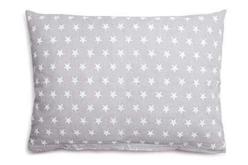 Kissenbezug Kissenhülle 40x60 cm mit Reißverschluss aus 100% Baumwolle, hergestellt in Europa (Grau) -