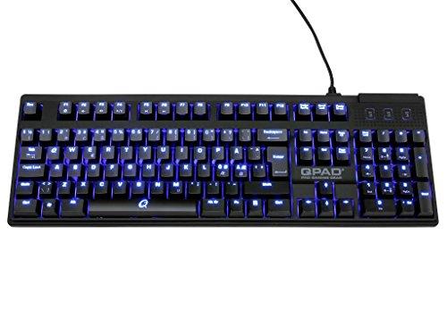 Preisvergleich Produktbild Qpad MK 70 Gaming Tastatur (Blau Beleuchtete Cherry MX Tasten,  USB,  Media Tasten,  QWERTZ Layout) schwarz