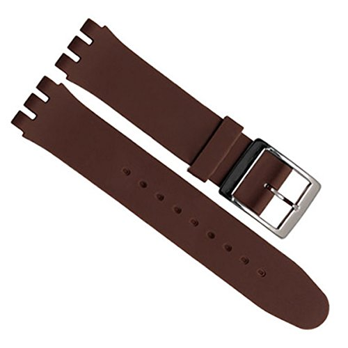 greenolive-19mm-replacement-waterproof-silicone-rubber-watch-strap-watch-band-brown
