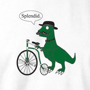 TEXLAB - Dino Splendid - Damen T-Shirt Weiß