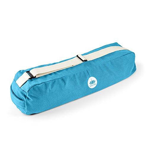 Lotuscraft - PUNE - Bolsa para hacer yoga - Espacio suficiente para llevar esterillas y accesorios de yoga - Algodón ecológico de comercio justo