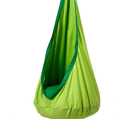 Kinder Swing Hängehöhle Kinder Hängesitz Baby Swing Baby Schaukel Cocoon Swing (Grün)