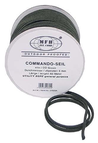 Commando g8ds Corde multi-usages Olive 5mm (70m rôle)