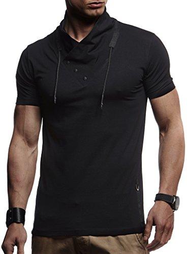LEIF NELSON Herren Jungen T-Shirt Hoodie Sweatshirt Rundhals Ausschnitt Kurzarm Longsleeve Modern Basic Shirt Stehkragen