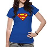 Loud Distribution Damen T-Shirt, Gr. Medium, Blau