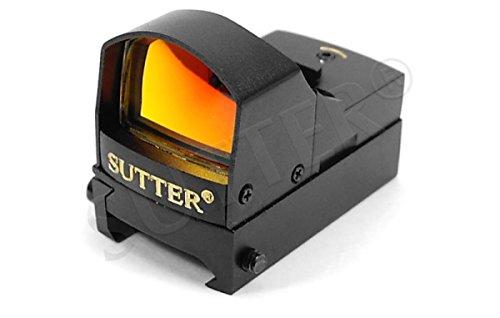 SUTTER® Multi Dot Viseur Point Rouge & Red Dot Sight 1x22 (Rouge/Vert) | pour Rails de Weaver & Picatinny | De Serrage Rapide | Lunette de visée Chasse & Airsoft