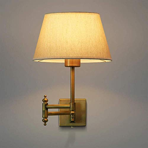 Plug-in Swing Arm Lampe (Zichen Plug in Wandleuchten Lampe Swing Arm Wandleuchte undurchsichtigen Papierschirm Indoor Wandleuchte Licht Wandleuchte Metall Schwinge for Schlafzimmer Bett Lesung E27)
