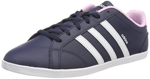 Damen-sommer-tennis-schuhe (adidas Damen Vs Coneo QT Fitnessschuhe, Mehrfarbig (Collegiate Navy/FTWR WHT/Frost Pink F14), 36 EU)