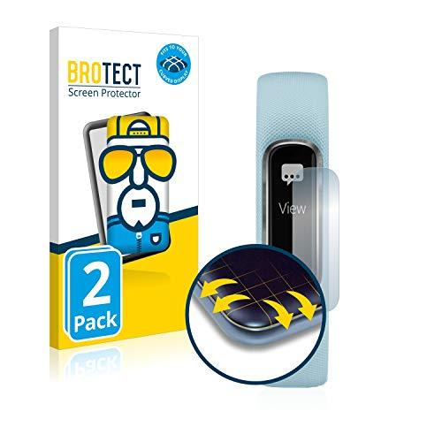 BROTECT Full Cover Schutzfolie kompatibel mit Garmin Vivosmart 4 [2er Pack] - Full Screen Bildschirmschutz, 3D Curved, Kristall-Klar