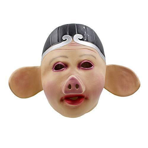 YaPin Novedad Ocho-Mandamiento Máscara de Cerdo Máscara de Puerco Viaje al Oeste Máscara de látex Cosplay Complementos de Rendimiento Divertidos