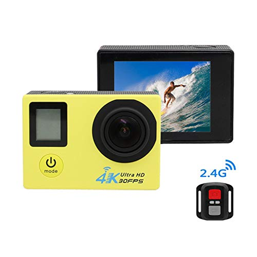 TSSM Unterwasserkamera Sport 170 Grad Superweitwinkel HD 1080P Video Doppelbildschirm 16 MP 4K Geeignet für Outdoor Tauchen Reiten