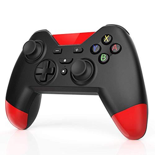 AGPTEK Controller Wireless per Nintendo Switch Per PS3 ( Ver.7.0.1 ) Per PC Windows7/8/10 con la Durata fino a 20 Ore e Doppia Vibrazione